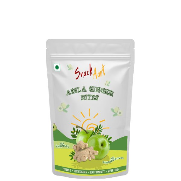 Amla Ginger Bites | Sun-Dried Amla Candies | Pack of 4 X 90g