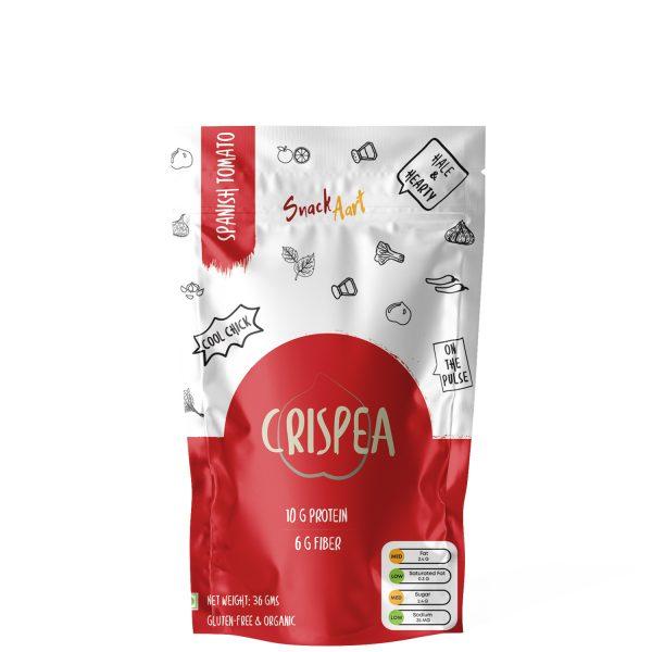 Crispea- Spanish Tomato | Roasted Chickpea Snacks| High Protein & Fiber | Pack of 5