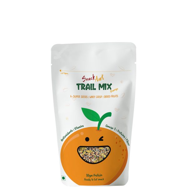 Trail Mix Orange | 6 Super Seeds, Whey Proteins & Dried Fruits | Pack of 4