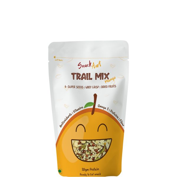 Trail Mix Mango | 6 Super Seeds, Whey Proteins, Dried Fruits | Pack of 4