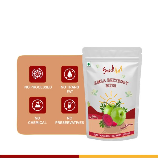 Amla Bites-Beetroot & Ginger Combo| Sun-Dried Amla Candies |  Pack of 4 X 90g