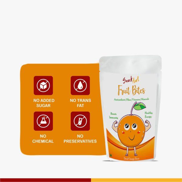 Fruit Bites-Dried Orange Slices   Pack of 2, 100gms