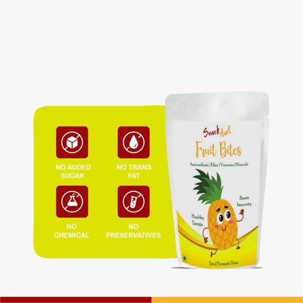 Fruit Bites-Dried Pineapple Slices | Pack of 2 |100gms