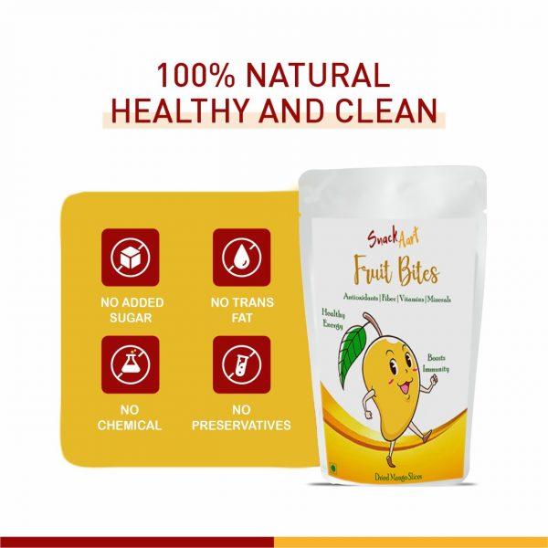 Fruit Bites-Dried Mango Slices   Pack of 2  100gms