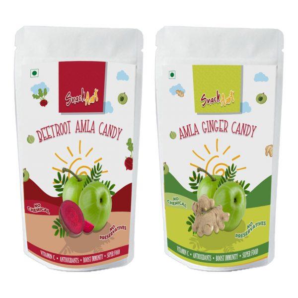 Amla Bites | Combo Pack-Beetroot & Ginger | 90g x Pack of 4