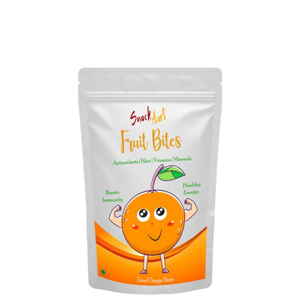 Fruit Bites- Dried Orange Slices | Healthy Fruit Snacks| Pack of 2 X 100g