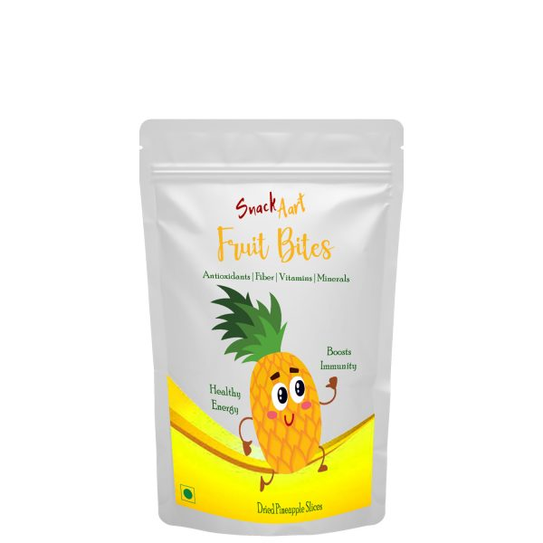 Fruit Bites- Dried Pineapple Slices | Healthy Fruit Snacks| Pack of 2 X 100g