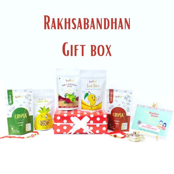 Snack Aart Rakhsabandhan Gift Box | Assorted Healthy Snack box-Sweet, Spicy & Crunchy; Just like your siblings