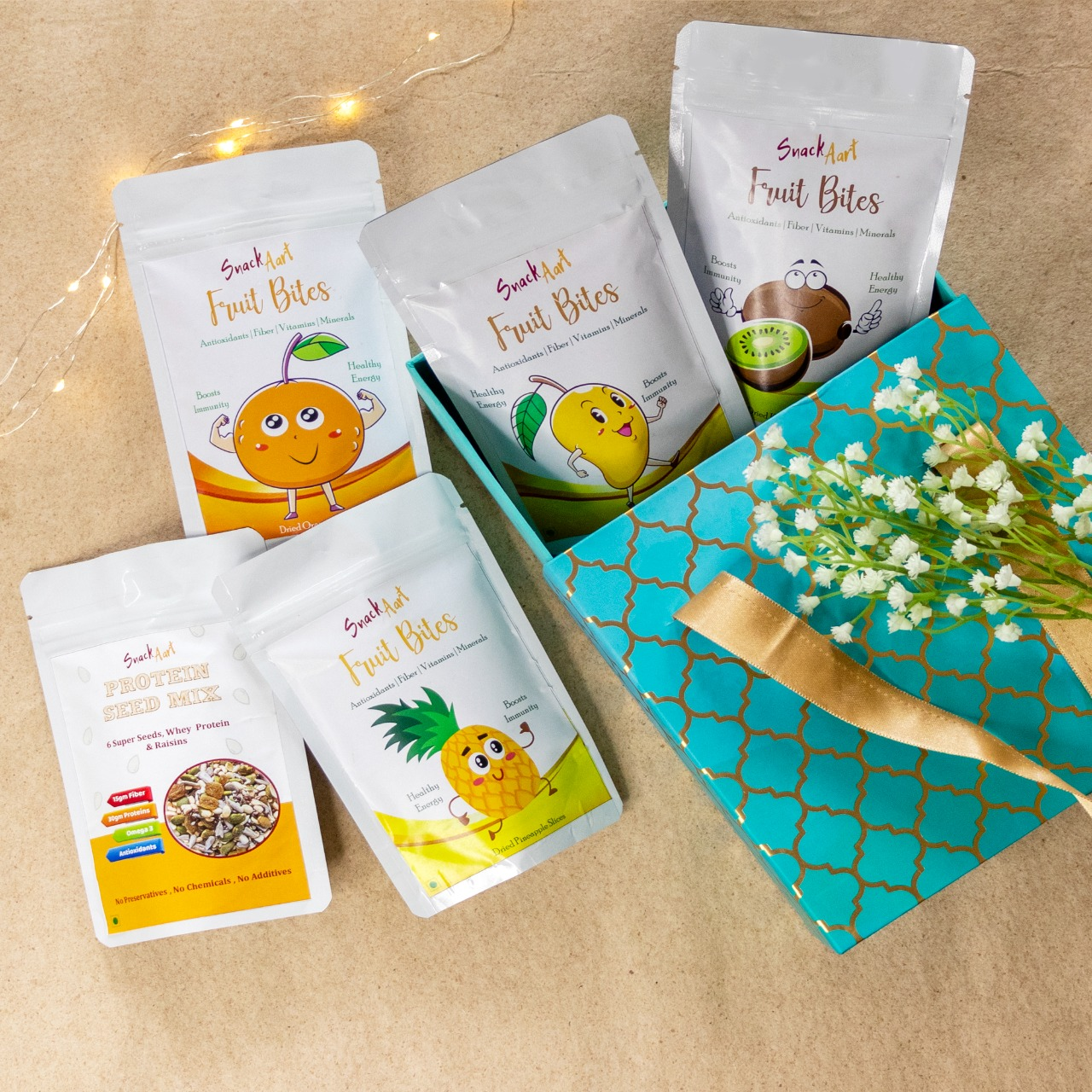 Healthy sweet diwali gift box- contains dried fruits and seed mix